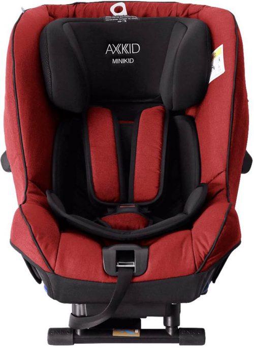 Fotelik samochodowy tyłem do kierunku jazdy 0-25 kg z zaliczonym testem PLUSA Axkid Minikid 2.0 kolor Red