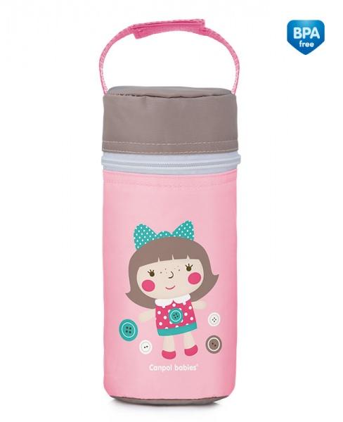 Termoopakowanie na butelki uniwersalne Canpol Babies Zabawki kolor Różowy