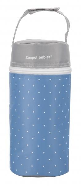 Termoopakowanie do butelek uniwersalne Canpol Babies Kropki kolor Niebieski