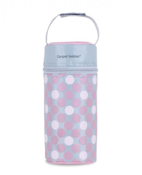 Termoopakowanie do butelek uniwersalne Canpol Babies Retro kolor Różowy