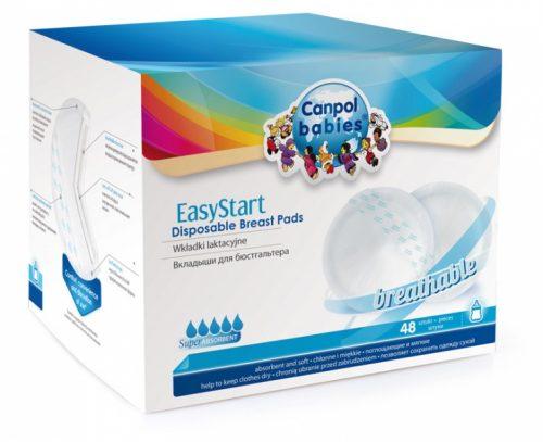 Wkładki laktacyjne jednorazowe EasyStart Canpol Babies opakowanie 48 szt.