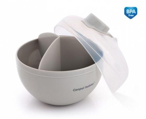 Pojemnik na mleko modyfikowane Canpol Babies 3 porcje kolor Szary