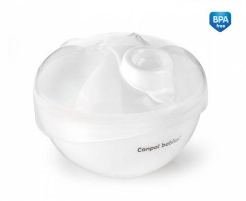 Pojemnik na mleko modyfikowane Canpol Babies 3 porcje kolor Biały