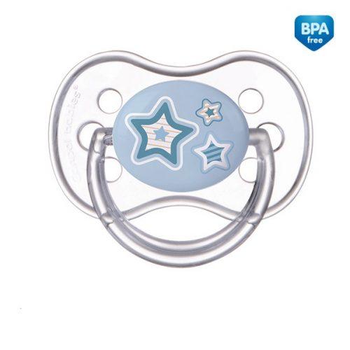 Smoczek uspokajający NewBorn Canpol Babies silikonowy okrągły 6-18m kolor Niebieski