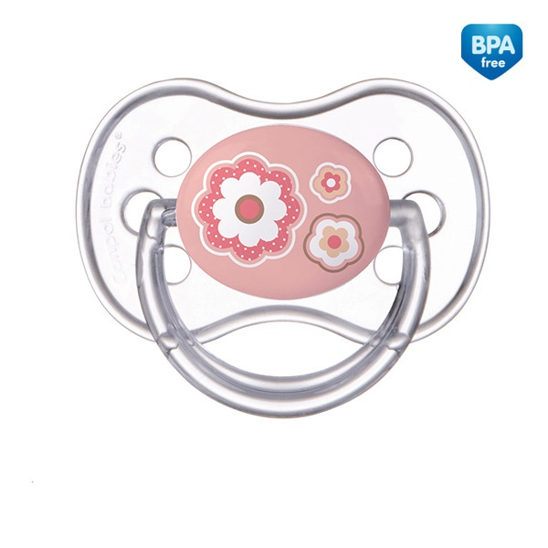 Smoczek uspokajający NewBorn Canpol Babies silikonowy okrągły 18m+ kolor Różowy