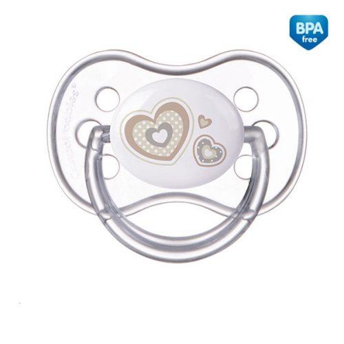 Smoczek uspokajający symetryczny silikonowy 18m+ NewBorn Canpol Babies kolor Beżowy