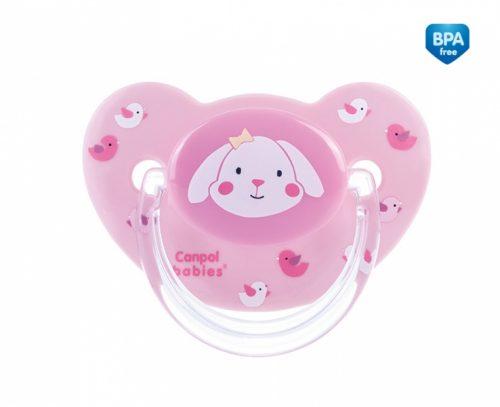 Smoczek uspokajający Sweet Fun Canpol Babies silikonowy anatomiczny 18m+ kolor Różowy