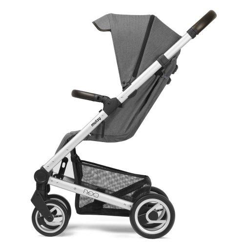 Elegancki wózek spacerowy Mutsy Nexo mały, lekki i komfortowy, kolorr Ash Melange 2019