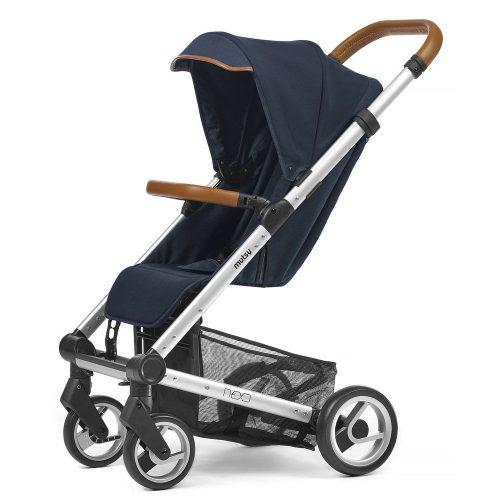 Elegancki wózek spacerowy Mutsy Nexo mały, lekki i komfortowy, kolor Blue Melange 2019