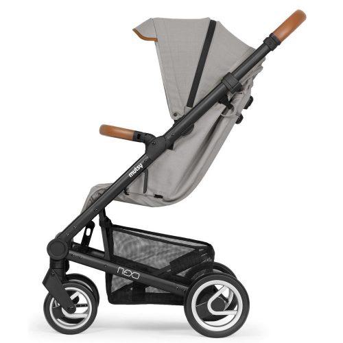 Elegancki wózek spacerowy Mutsy Nexo mały, lekki i komfortowy, kolor Concrete Melange 2019
