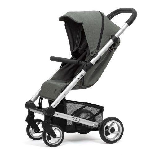 Elegancki wózek spacerowy Mutsy Nexo mały, lekki i komfortowy, kolor Moss Grey Melange 2019