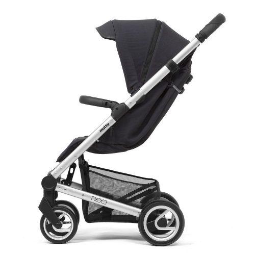 Elegancki wózek spacerowy Mutsy Nexo mały, lekki i komfortowy, kolor Blueberry Melange 2019