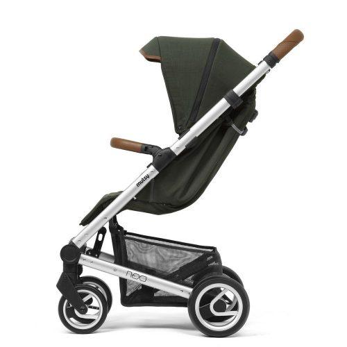 Elegancki wózek spacerowy Mutsy Nexo mały, lekki i komfortowy, kolor Deep Forest Melange 2019