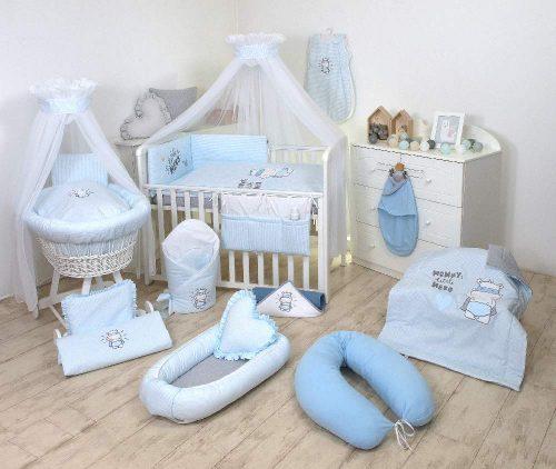 Otulacz dla noworodka dzianiana Hero Amy niebieski
