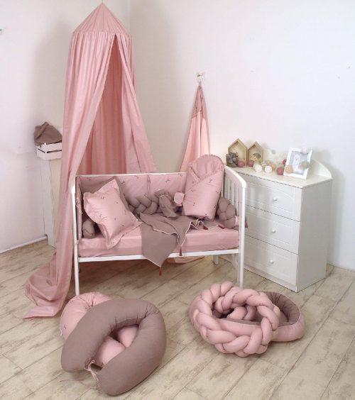 Prześcieradło bawełniane 120x60 Pure Rose Amy