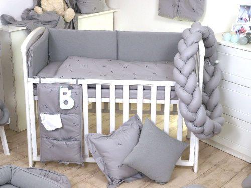 Warkocz ochraniacz do łóżeczka 210cm Grey Pure Amy