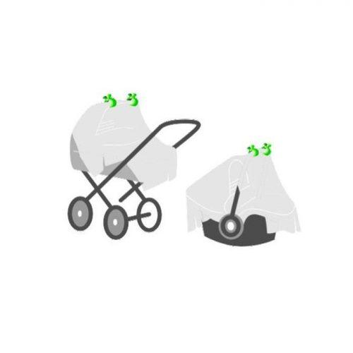 Klips do kocyka wózka  XKKO Uniwersalny 2 szt kolor złoty