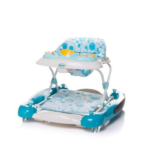 Chodzik dla dziecka, chodzik z funkcją kołyski Swing N Go 4 baby turkusowy