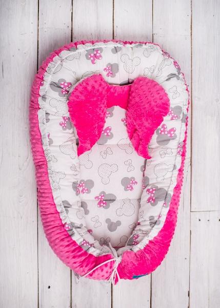 Kokon dla niemowlaka Minky różowy Belisima
