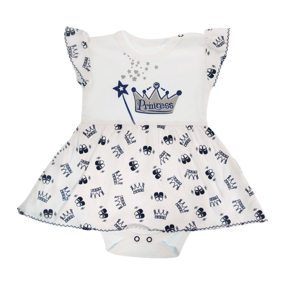 Sukienko body dla dziewczynki krótki rękaw Princes Mamtti 80