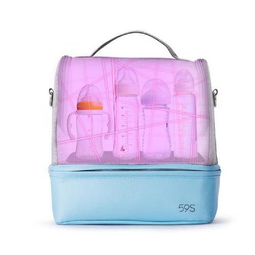 59S Sterylizator Torba do wózka i na ramię torba do sterylizacji 59S UVC LED MOMMY BAG różowa