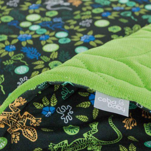 Kocyk z poduszką 75x100 Ceba baby Gecko