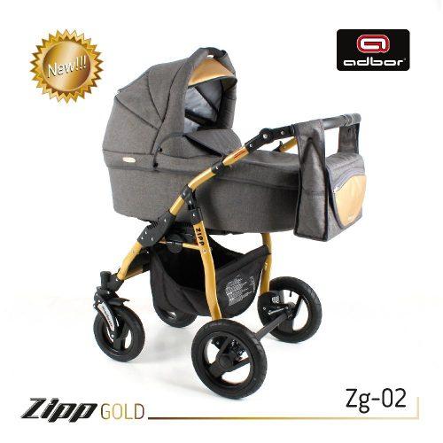 Wózek wielofunkcyjny głęboko spacerowy ZIPP Gold 2w1 Adbor kolor Zg 02