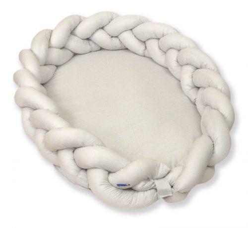 Warkocz do łóżeczka 210cm  kokon dla niemowląt 2w1 Amy szary