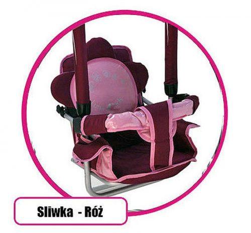 Super bezpieczna huśtawka Luna firmy Adbor dla dzieci do 20 kg Śliwkowo różowy