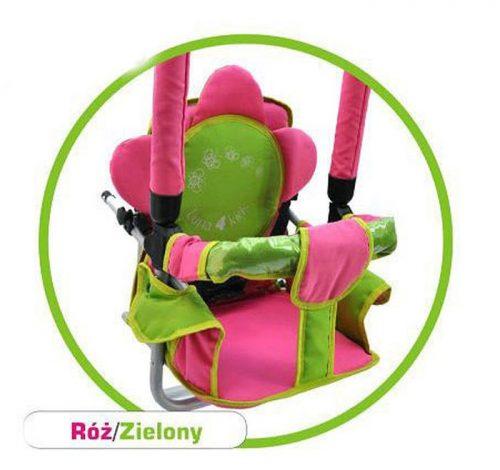Super bezpieczna huśtawka Luna firmy Adbor dla dzieci do 20 kg Różowo zielona