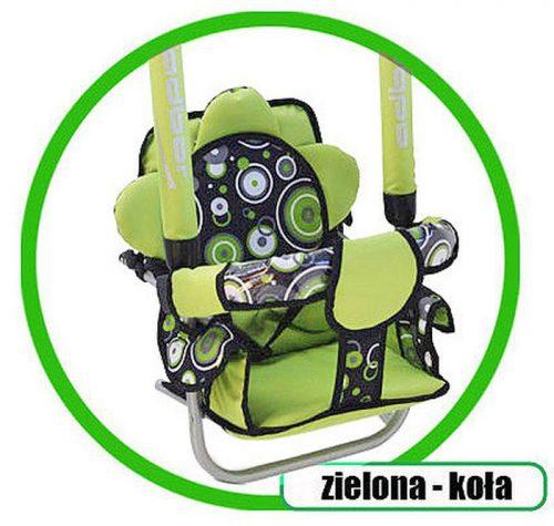 Super bezpieczna huśtawka Luna firmy Adbor dla dzieci do 20 kg Zielony koła