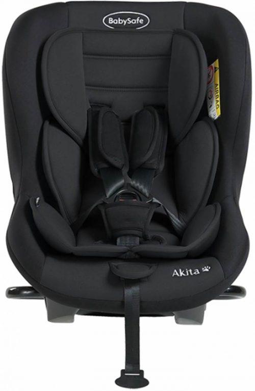 Fotelik samochodowy tylko tyłem do kierunku jazdy BabySafe Akita 0-18 KG Test Plus kolor Czarny