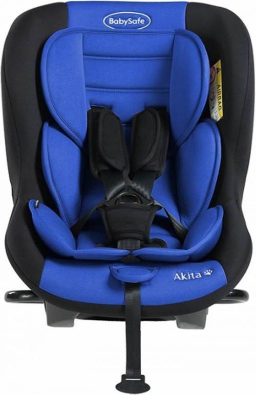 Fotelik samochodowy tylko tyłem do kierunku jazdy BabySafe Akita 0-18 KG Test Plus kolor Niebieski