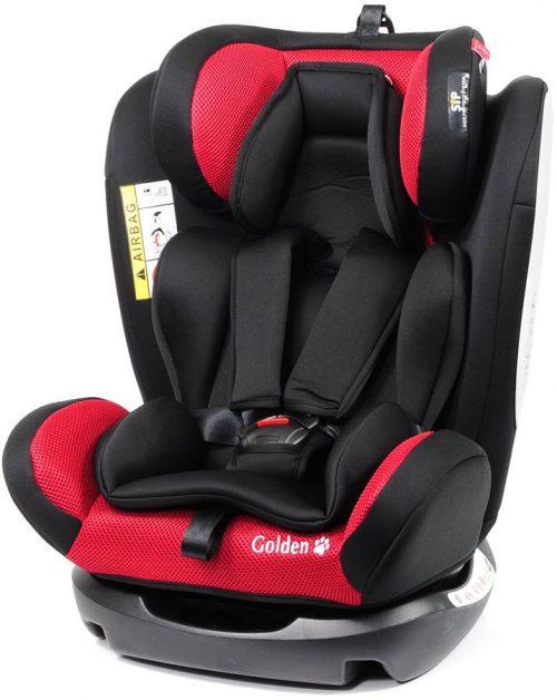 Fotelik samochodowy Baby Safe Golden 0-36 kg przodem i tyłem do kierunku jazdy kolor Czerwony