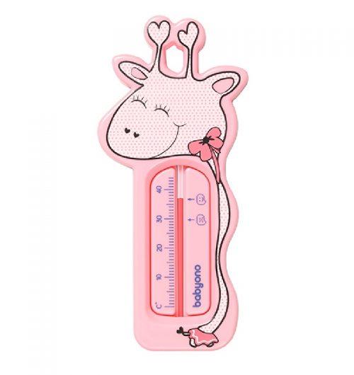 Termometr pływający do kąpieli Żyrafa BabyOno Różowy