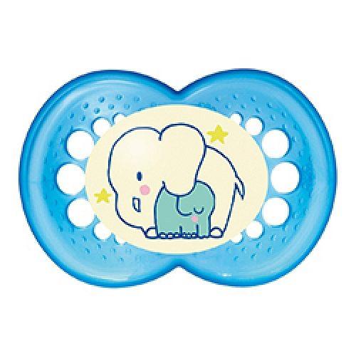 Smoczek uspokajający na noc Mam Night  6+ Niebieski słoń