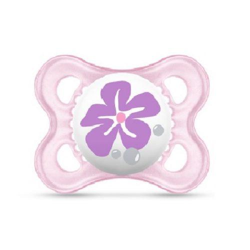 Smnoczek uspokajający  Pearl 2-6 m Mam Baby  różowy kwiatek
