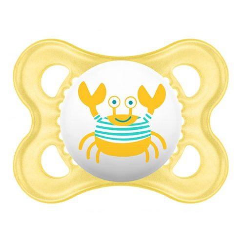 Smoczek uspokajający  Pearl 2-6 m Mam Baby żółty krab