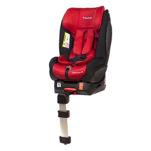 Fotelik samochodowy BabySafe Schnauzer 0-18 KG przodem i tyłem do kierunku jazdy kolor Czerwony plus gratis !