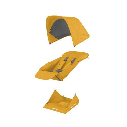 Greentom siedzisko spacerowe z daszkiem oraz koszem na zakupy Upp Reversible Seat kolor Honey