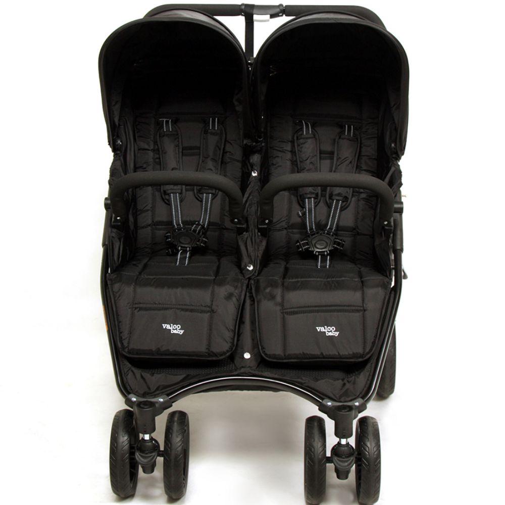 Wózek spacerowy dla bliźniąt Valco Baby Snap Duo tylko 9.8 KG kolor Black Beauty + GRATIS