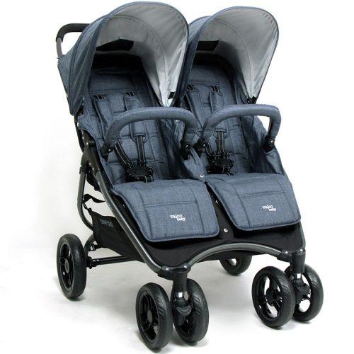 Wózek spacerowy dla bliźniąt Valco Baby Snap Duo Tailor Made tylko 9.8 KG kolor Denim + GRATIS
