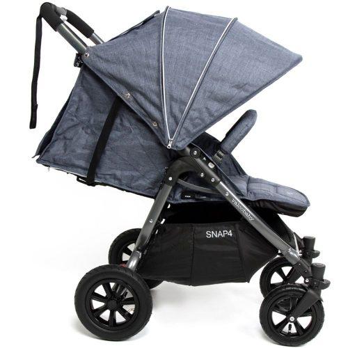 Wózek spacerowy Valco Baby Snap 4 Sport Tailor Made na pompowanych kołach, kolor Denim + GRATIS