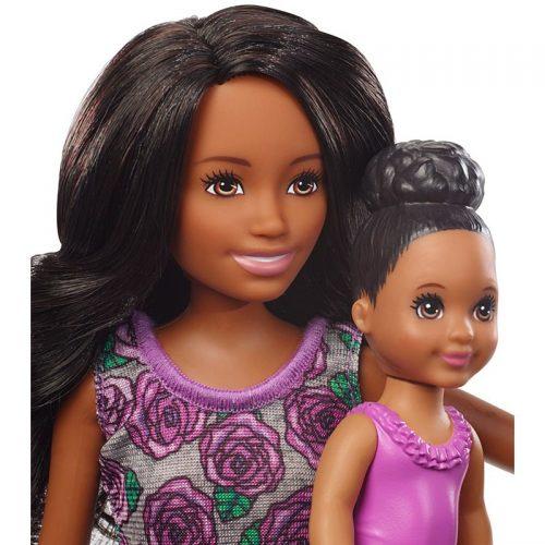 Zestaw lalka Barbie opiekunka + wanna FXH06
