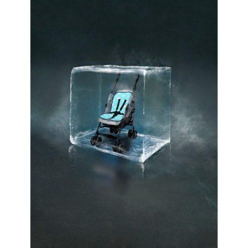 Mata chłodząca do wózków Bébé Folie kolor Niebieski