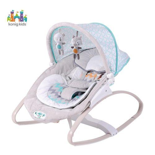 Leżaczek dla niemowląt z budką od 0-18 kg Konig Kids