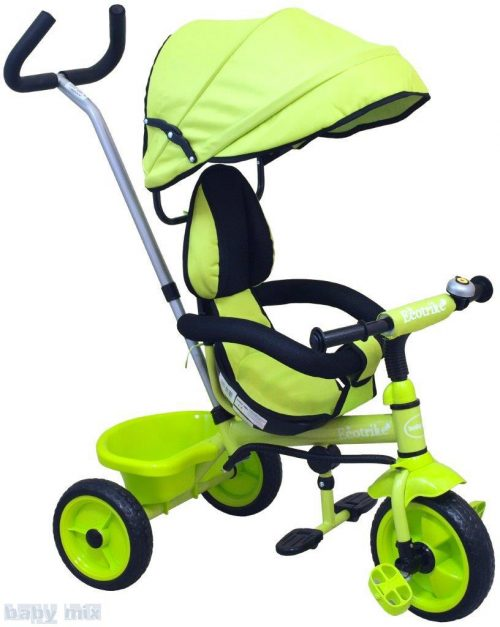 Rowerek trójkołowy z pchaczem EcoTrike zielony