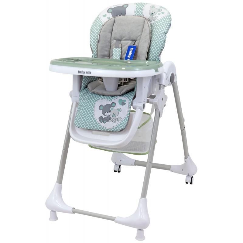 Krzesełko do karmienia z tacką Infant zielone