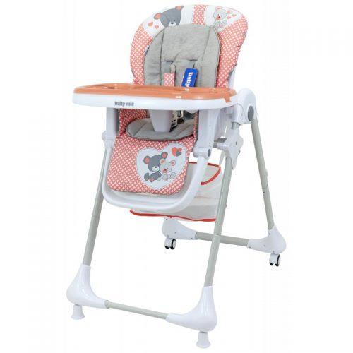 Krzesełko do karmienia z tacką Infant różowe