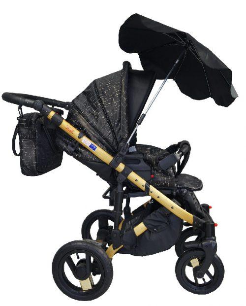 Parasolka przeciwsłoneczna do wózków dziecięcych szary len
